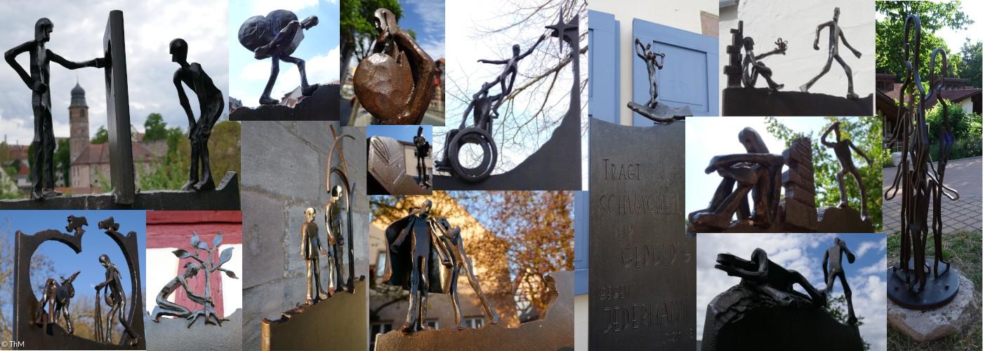 Aufmerk-Stelen - Collage für Slider