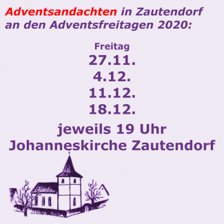 Adventsandachten in Zautendorf